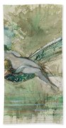 Dragonfly Beach Towel by Gustave Moreau