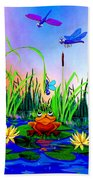 Dragonfly Pond Beach Towel