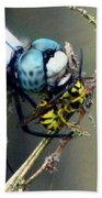Dragonfly With Yellowjacket 4 Beach Towel