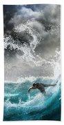 Dragon's Soul Surfer Beach Towel