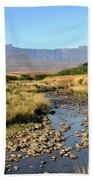 Drakensberg Amphitheatre Mountain Range In Kwazulu Natal, South Africa Beach Towel