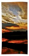 Drama In The Sky At The Sunset Hour Beach Towel