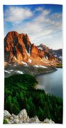 Drama Of The Canadian Rockies 3 Beach Towel