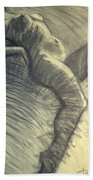 Dramatic 5 - Female Nude  Beach Towel