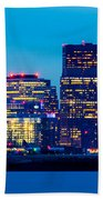 Dramatic Boston Skyline  Beach Towel