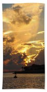 Dramatic Clouds Beach Towel