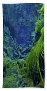 Dramatic Fluorescent Green Algae Beach Towel by Mathieu Meur