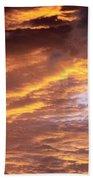 Dramatic Orange Sunset Beach Towel