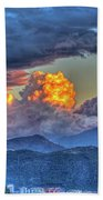 Dramatic Sky And Clouds Beach Towel