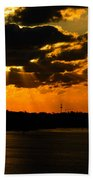 Dramatic Sunrise At Nassau Beach Towel