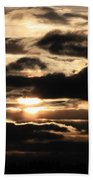 Dramatic Sunset Beach Towel