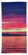 Dramatic Sunset Colors Over Birch Bay Beach Towel