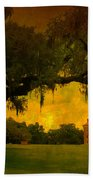 Drayton Hall Plantation In Charleston Beach Towel