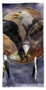 Dream Catcher - Spirit Eagle 3 Beach Towel