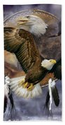 Dream Catcher - Spirit Eagle Beach Towel