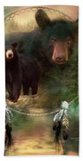 Dream Catcher - Spirit Of The Black Bear Beach Towel