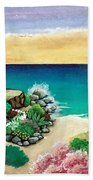 Dream Light House Beach Towel