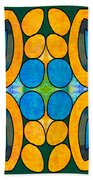 Dreaming In Circles Abstract Hard Candy Art By Omashte Beach Towel