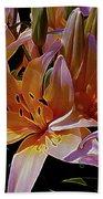 Dreaming Of Lilies 5 Beach Sheet