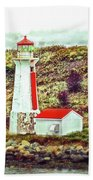 Dreaming Of The Georges Island Light In Halifax Beach Towel