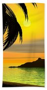 Dreaming On A Cold January Day Beach Towel