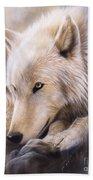 Dreamscape - Wolf Beach Towel