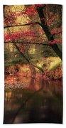 Dreamy Autumn Forest Beach Towel