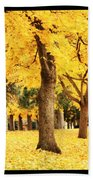 Dreamy Autumn Gold Beach Towel