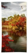 Dreamy Autumn Impressionism Beach Towel