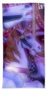 Dreamy Carrousel  Horses Beach Towel