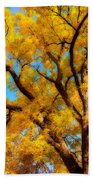 Dreamy Crisp Autumn Day Beach Towel