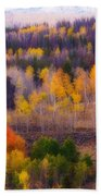 Dreamy Rocky Mountain Autumn View Beach Towel