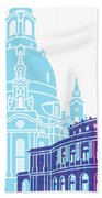Dresden Skyline Pop Beach Towel
