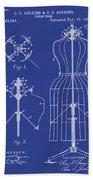 Dress Form Patent 1891 Blue Beach Towel