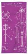 Dress Form Patent 1891 Pink Beach Towel
