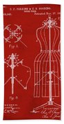 Dress Form Patent 1891 Red Beach Towel