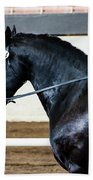 Dressage Horse Show Beach Towel
