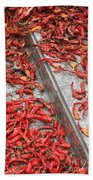 Dried Chili Peppers Beach Towel