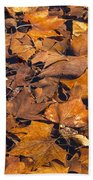 Dried Leaves Beach Towel