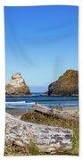 Driftwood And Rocks Beach Towel