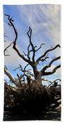 Driftwood And Roots Hunting Island Sc Beach Towel by Lisa Wooten