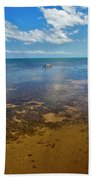 Driftwood At Low Tide In Key West Beach Towel