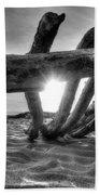 Driftwood B/w Beach Towel