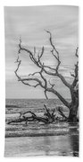 Still Standing In Black And White Beach Towel