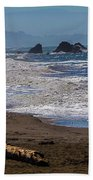 Driftwood Log Beach Towel