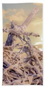 Driftwood Sunset Beach Towel