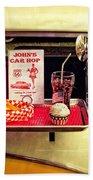 John's Car Hop Beach Towel