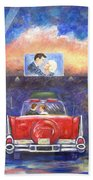 Drive-in Movie Theater Beach Towel