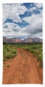 Drive To Loy Canyon, Sedona, Arizona Beach Towel