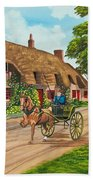 Driving A Jaunting Cart Beach Towel